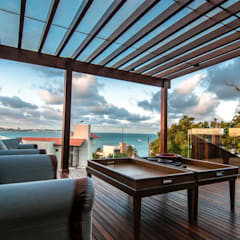 Tropical style balcony, porch & terrace by homify Tropical