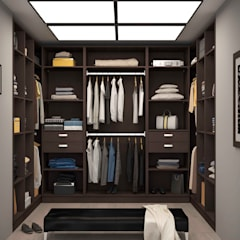 Walk in closet de estilo  por Centimetre.com
