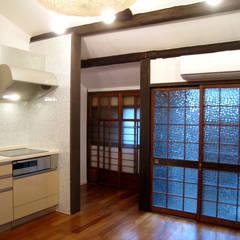 京都平屋の民家改修: あお建築設計が手掛けた書斎です。