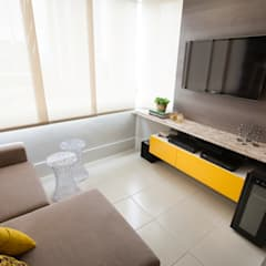 Media room by Passo3 Arquitetura, Eclectic
