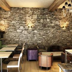 Projet Chateau / Rendu Visuel: Restaurants de style  par Entre Deux
