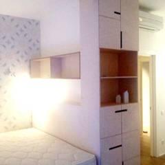 Спальня из фанеры:  в . Автор – Мебельная компания FunEra. Изготовление мебели из фанеры на заказ. http://www.fun-era.ru, Лофт Фанера
