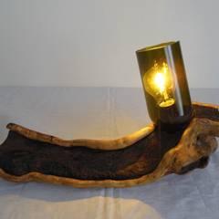 Lampe Upcycling !!: landhausstil Arbeitszimmer von Holzsteinkunstobjekte