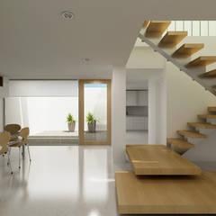 Renders interiores: Pasillos y recibidores de estilo  por Entretrazos