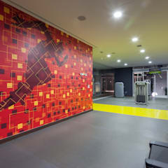 Gimnasio : Gimnasios de estilo  por UNUO Interiorismo