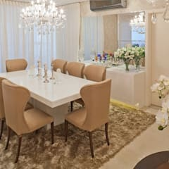 Clássico ao Luxo: Salas de jantar  por Mariane e Marilda Baptista - Arquitetura & Interiores