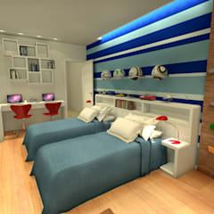 Nursery/kid's room by Konverto Interiores + Arquitetura