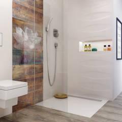 Kolekcja Manteia Ceramika Paradyż Eklektyczna łazienka