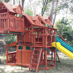 Arden Climbing Frame Fire Mans Poles and Picnic Table:  Garden by Selwood Products Ltd
