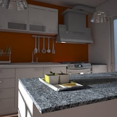 مطبخ تنفيذ Axios Arquitectos , حداثي