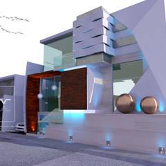 CASA CL: Casas de estilo  por Sergio Villafuerte -ARQUITECTOS-