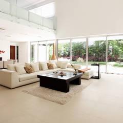Casa entre Arboles: Salas de estilo moderno por Enrique Cabrera Arquitecto