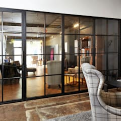Partitioning Wall:  Glass doors by Work House Collection, Industrial