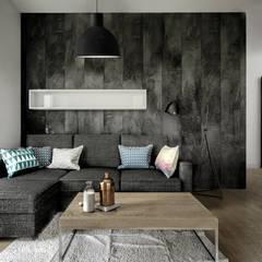 salon: styl , w kategorii Salon zaprojektowany przez Wiktoria Ginter - architektura wnętrz