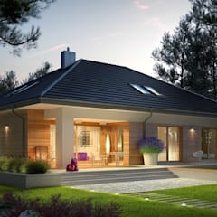 Projekt domu Marcel III G2 : styl nowoczesne, w kategorii Domy zaprojektowany przez Pracownia Projektowa ARCHIPELAG