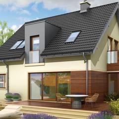 Projekt domu Mati G1 : styl , w kategorii Domy zaprojektowany przez Pracownia Projektowa ARCHIPELAG,