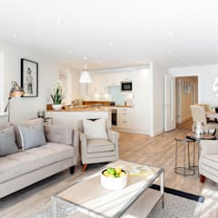 Living  room by WN Interiors:  Living room by WN Interiors of Poole in Dorset