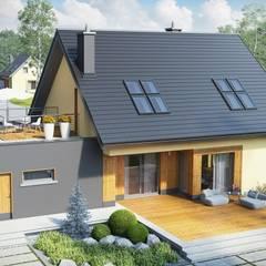 Projekt domu Marcin II G2: styl , w kategorii Garaż zaprojektowany przez Pracownia Projektowa ARCHIPELAG