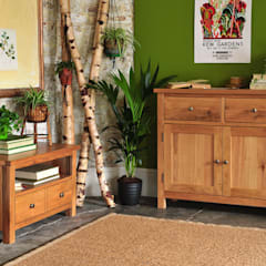 Sterling Oak Small Sideboard & TV Unit:  Living room by The Cotswold Company