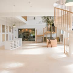 Cotes Mill Showroom:  Commercial Spaces by Floors of Stone Ltd