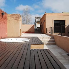 terraza Spa, después : Terrazas de estilo  por Parrado Arquitectura