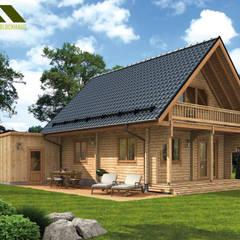 منازل تنفيذ THULE Blockhaus GmbH - Ihr Fertigbausatz für ein Holzhaus, ريفي