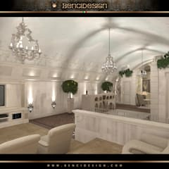 Villa Moscow: Giardino d'inverno in stile  di BenciDesign