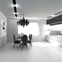 Черно-белая сюита: Столовые комнаты в . Автор – Гурьянова Наталья,