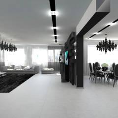Черно-белая сюита: Гостиная в . Автор – Гурьянова Наталья,