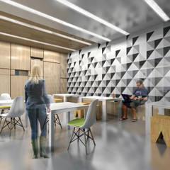 KWADRATY - Centrum edukacyjne & bistro cafe w Katowicach : styl , w kategorii Centra kongresowe zaprojektowany przez Architekt wnętrz Klaudia Pniak