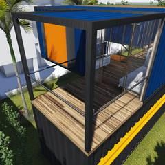 Casas de estilo  por ESTUDIOFAROL - ARQUITETURA   DESIGN   URBANISMO, Moderno Hierro/Acero