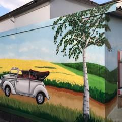 Mühlenlandschaft:  Garage & Schuppen von MR.Graffiti