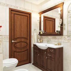 Квартира двухуровневая: Ванные комнаты в . Автор – Оксана Мухина