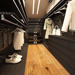 Męski punkt widzenia: styl , w kategorii Garderoba zaprojektowany przez FAMM DESIGN
