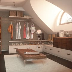 RETRO INDUSTIAL: styl , w kategorii Garderoba zaprojektowany przez FAMM DESIGN