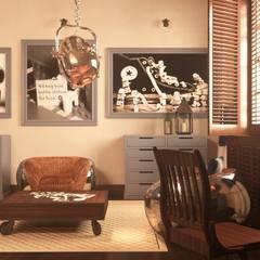 RETRO INDUSTIAL: styl , w kategorii Pokój dziecięcy zaprojektowany przez FAMM DESIGN