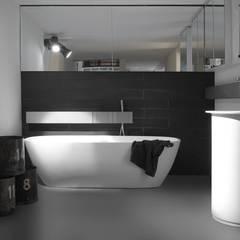 Design Gietvloer in de badkamer. www.designgietvloer.nl:  Badkamer door Design Gietvloer