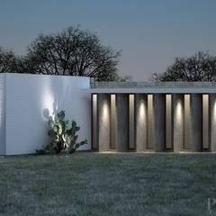 Render de fachada principal.: Casas de estilo rural por Paramétrica Arquitectos