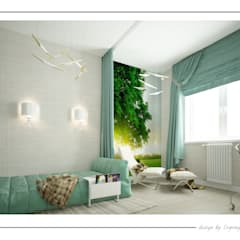 eclectic Nursery/kid's room by  Евгения Млынчик