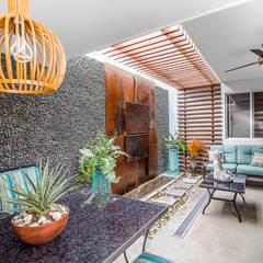 PATIO I SA: Jardines de estilo  por SZTUKA  Laboratorio Creativo de Arquitectura