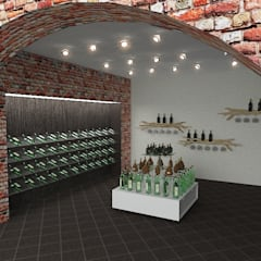 Концепция магазина: Винные погребы в . Автор – Design Rules