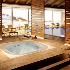 Baños de estilo  por jacuzzi