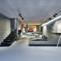 Magazine editorial - House in Sai Kung by Millimeter:  Living room by Millimeter Interior Design Limited