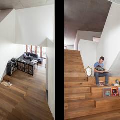 Gewad: Couloir et hall d'entrée de style  par atelier vens vanbelle
