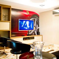 Salas de entretenimiento de estilo moderno de VILLA ARQUITETURA- DO SEU JEITO COM NOSSO TOQUE Moderno