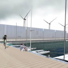 Le village olympique flottant / Glaz house - JO Brest 2024: Yachts & Jets de style  par Trace & Associes architecture, Minimaliste