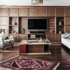 Bilgece Tasarım – Gül & Emin Timur:  tarz Oturma Odası,