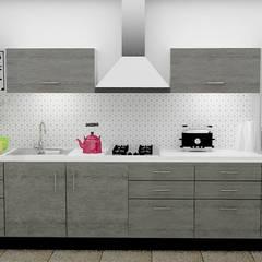 Cocina con tapiz geométrico.: Cocinas de estilo  por ESTUDIO FD