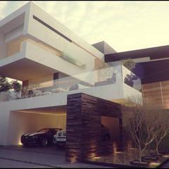 Vista Principal: Casas de estilo  por 21arquitectos, Minimalista