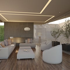 Living room by 21arquitectos